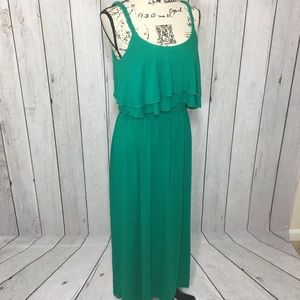 NY Collection Green Strap Maxi Dress Womens Size S